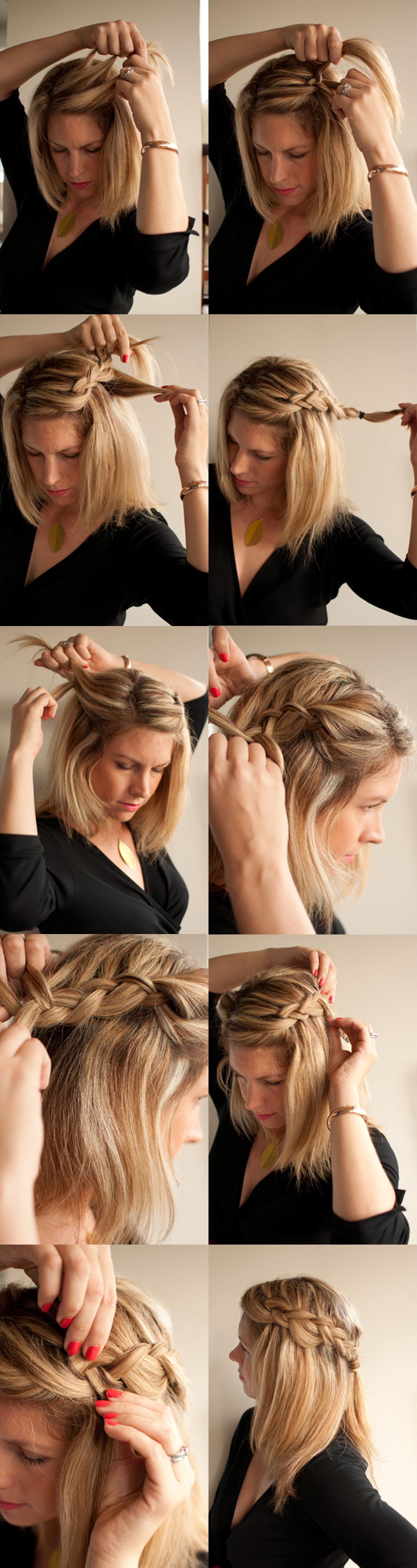 Step 1 – Part your hair – I did mine on the side but this style is ...