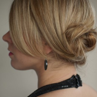 low Twist and pin twist chignon hairstyle hero web
