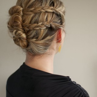 triple plait bun twist hairstyle hero web