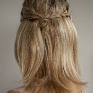 triple plait half up hairstyle hero web