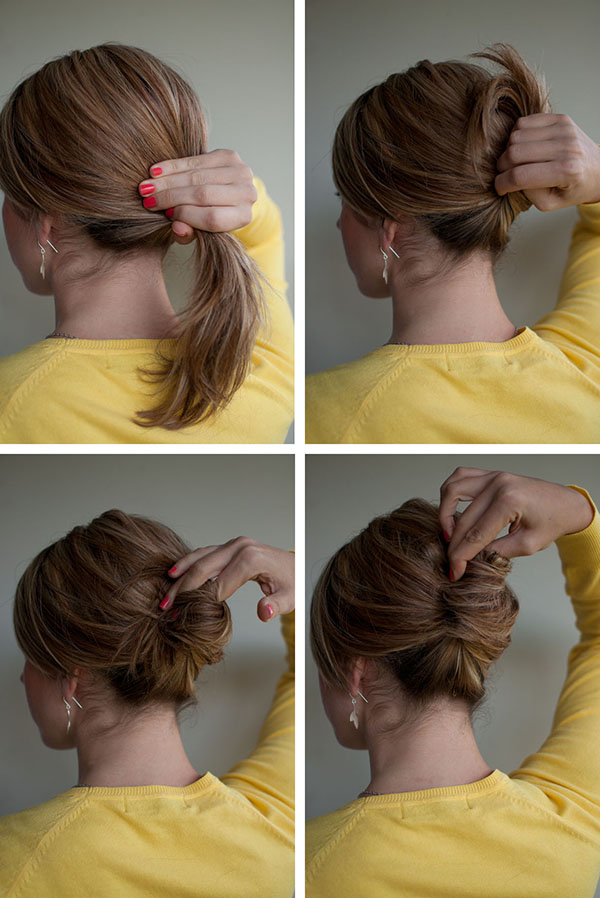 Juda Hairstyle For Short Hair Videos : ... hair wikihow try the classic french twist make a hair roll how to make