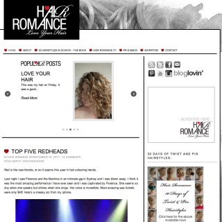 Hair Romance new web design