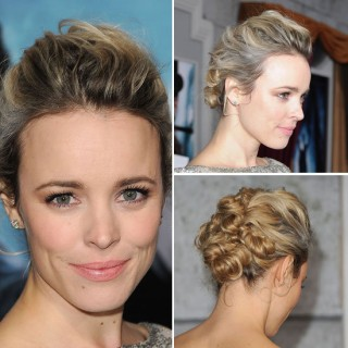 Rachel McAdams hits the red carpet Twist & Pin style
