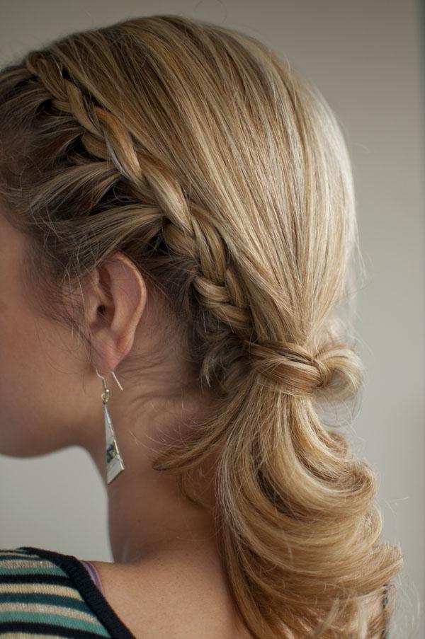 Pleasant Braided Side Ponytail With Curls Braids Short Hairstyles Gunalazisus