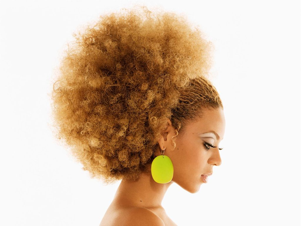 Beyonce with Natural Hair