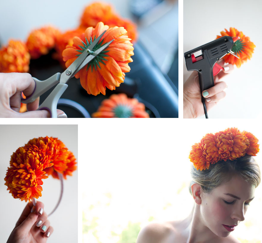 how to make a simple hairstyle at home : Hair Accessory DIY ? Floral headband - Hair Romance