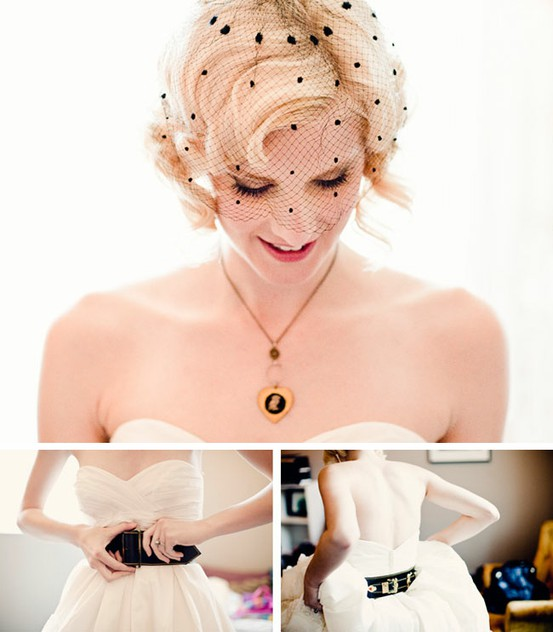 Brides with short hair - wedding hairstyle ideas
