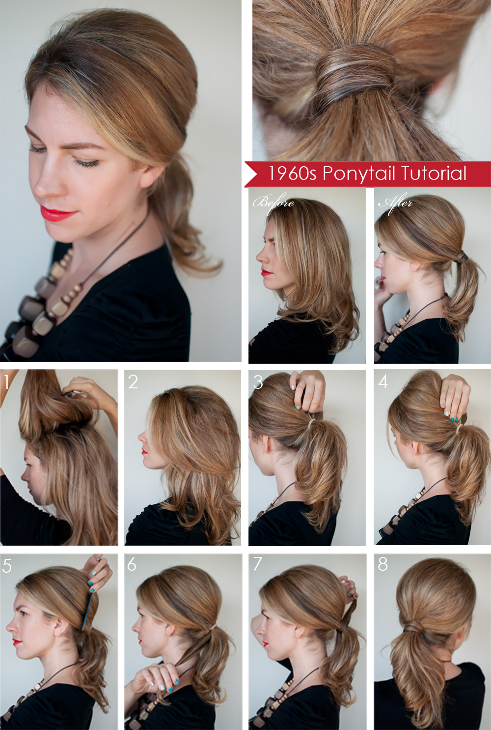 Hairstyle Creator : Hairstyle how to: Create a 1960s style ponytail - Hair Romance