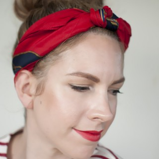 5 ways to wear a scarf and a top knot – 3 – Knot headband
