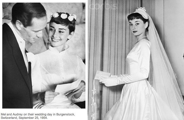 And my favourite short haired bride Audrey Hepburn