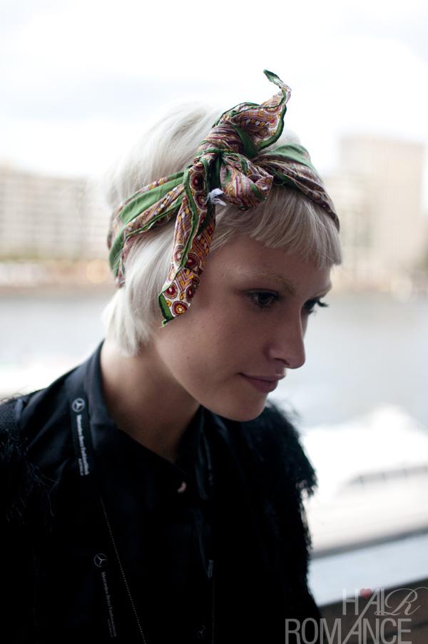 style hair scarf headband hair