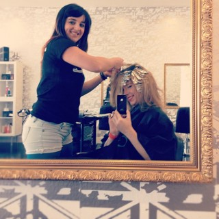 Hair Romance in the salon - Elly - Stevie English Hair
