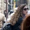 Street style hair - big curls in Milan