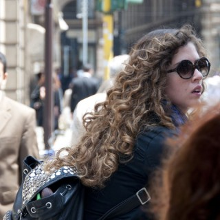 Street style hair: Milan