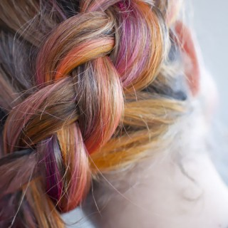 Hair Romance - pink side braid hairstyle 4