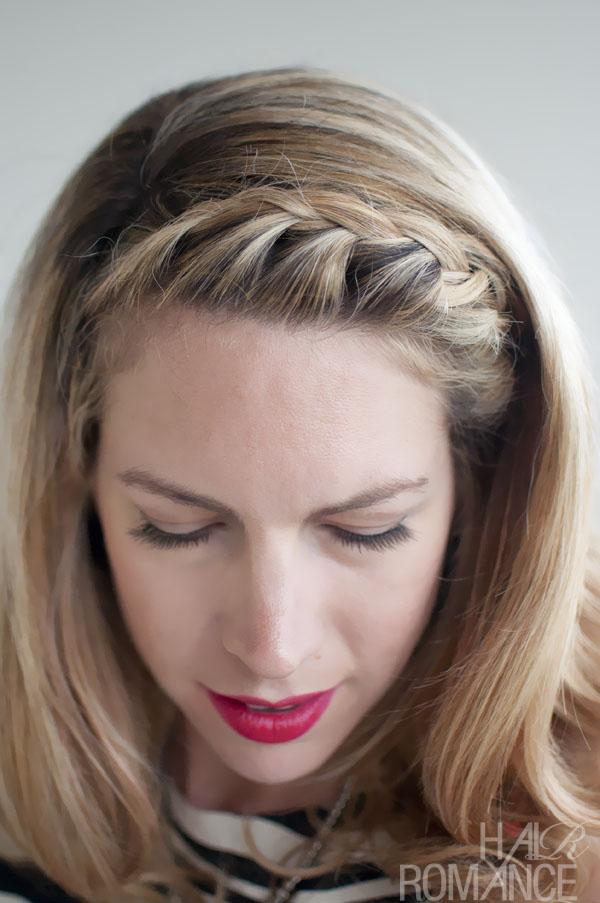 Hair Romance - 30 braids 30 days - 10 - the French fringe braid