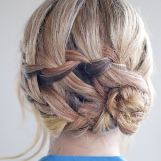 Hair Romance - 30 braids 30 days - 11 - the double waterfall braided bun