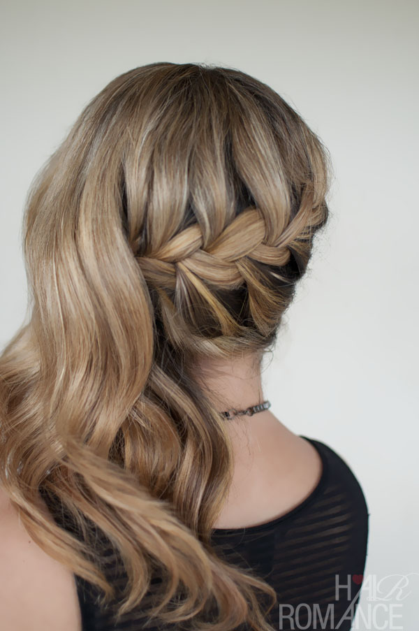 Side Braids With Curls