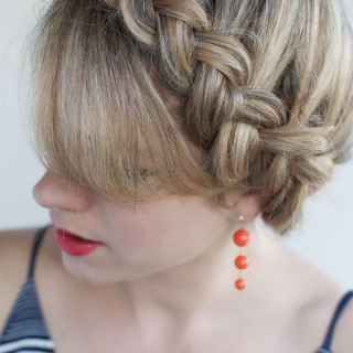 Hair Romance - 30 braids 30 days - 17 - the Dutch crown braid