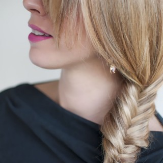 Hair Romance - 30 braids 30 days - 19 - the side fishtail braid