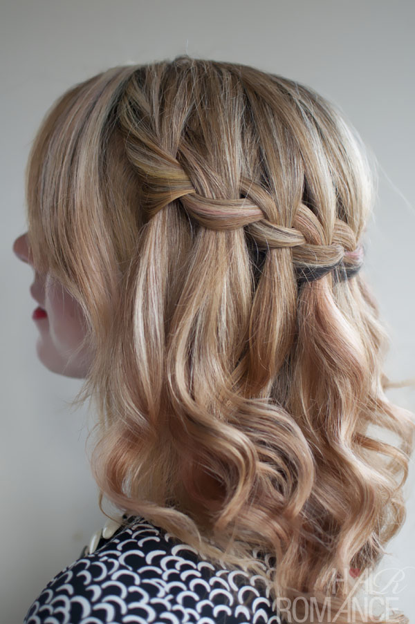 waterfall hair braid instructions