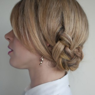 Hair Romance - 30 braids 30 days - 20 - the twist braid updo