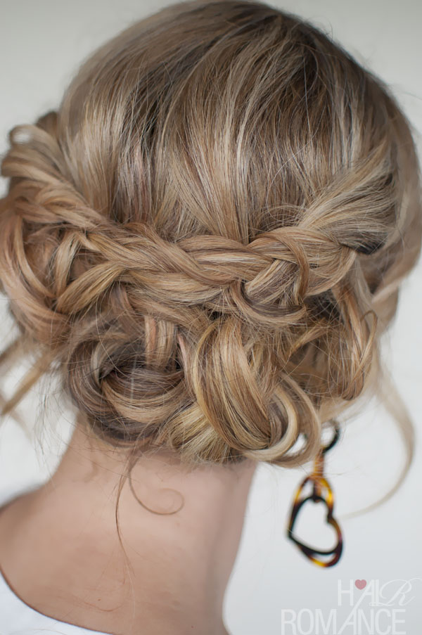 Hair Updo with Braids