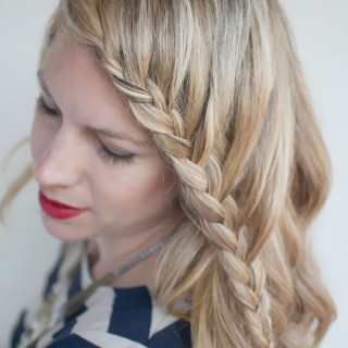 Hair Romance - 30 braids 30 days - 26 - the French fringe braid