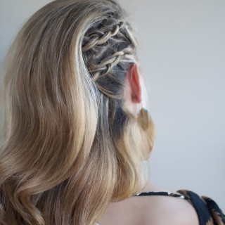 Hair Romance - 30 braids 30 days - 27 - the cornrow combover braid