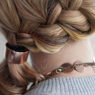 Hair Romance - 30 braids 30 days - 3 - the French braid side ponytail
