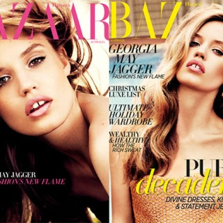 Harpers Bazaar - Georgia May Jagger - covers Dec 2012