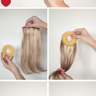 How to make the perfect hair donut for fine hair