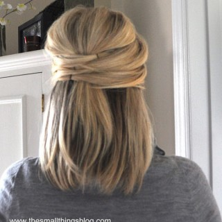 Elegant half up hairstyle how to
