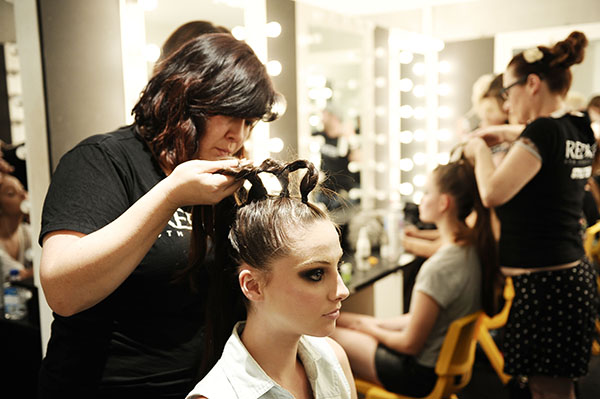 Hair Romance - Big Hair - Raffles braiding backstage