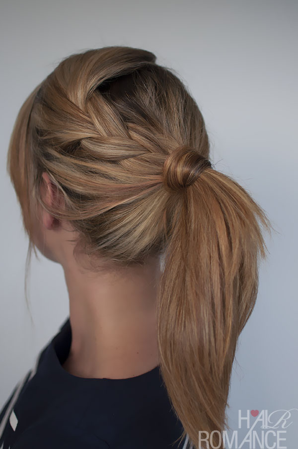 Hair Romance easy braided ponytail hairstyle