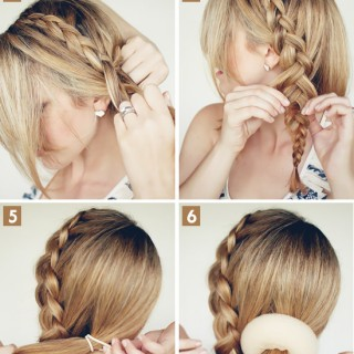 Big Braided Bun hair tutorial on Latest Hairstyles