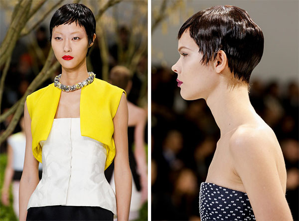 Christan Dior Couture - Pixie crop hair - Jan 2013