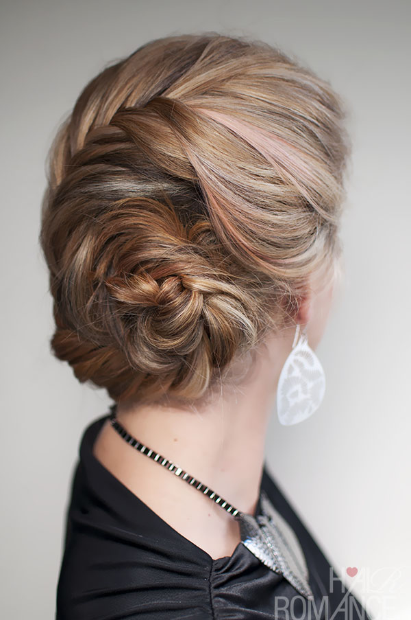 Hair Romance - French fishtail braided chignon