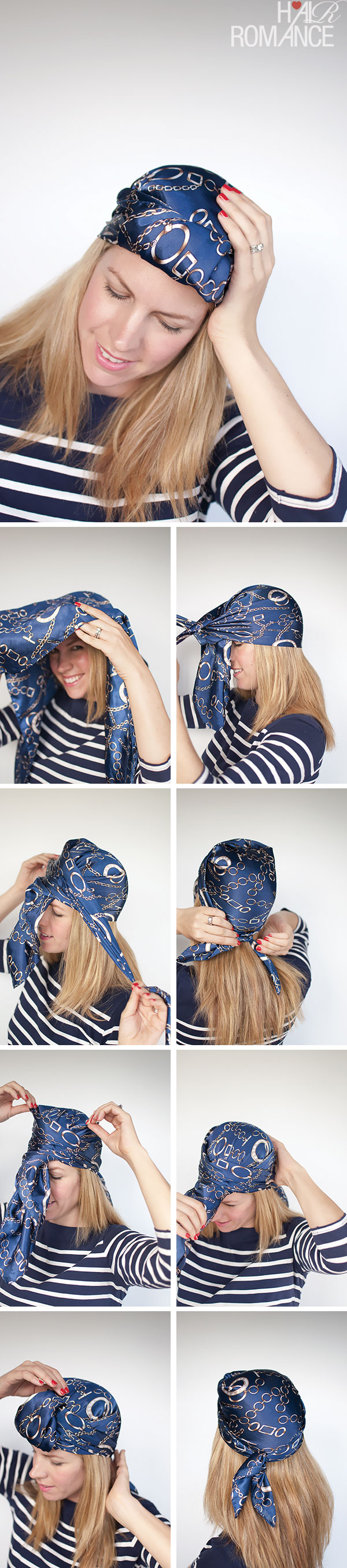 Hair Romance - Headscarf three ways - urban turban