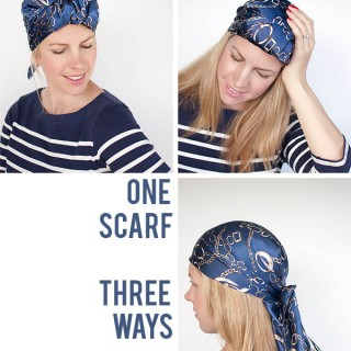 One Scarf Three Ways – Turn your scarf into an urban turban