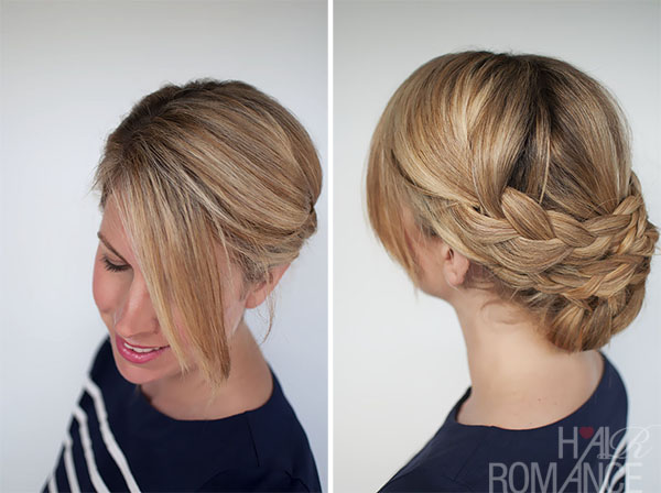 Hairstyle how to - easy braided upstyle