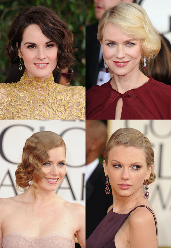 Red Carpet hair trend - 20s inspired waves - Golden Globes 2013