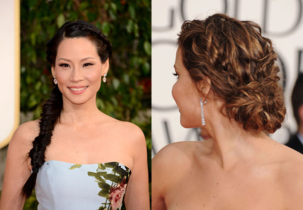 Red Carpet hair trend - fishtail braids - Golden Globes 2013