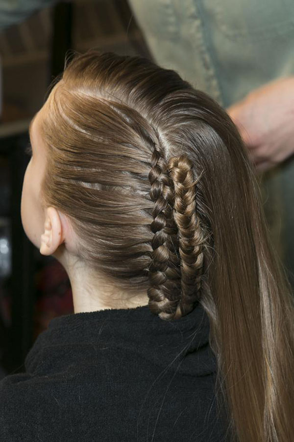 Alexandre Herchcovitch NYFW 2013 hair - braids