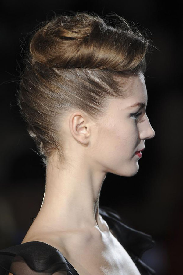 Badgley Mischka NYFW 2013 hair - backwards braid quiff