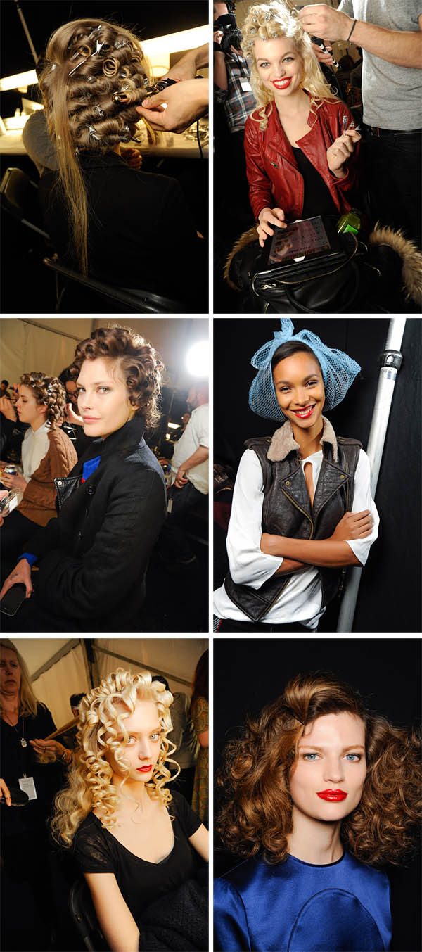 Big Hair backstage at Marc by Marc Jacobs NYFW FW 2013