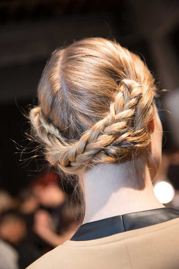 Christian Siriano - NYFW 2013 hair - fishtail braid