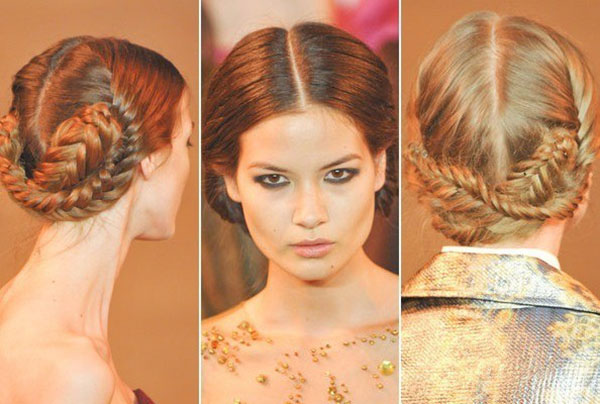 Christian Siriano - NYFW 2013 hair - fishtail braids
