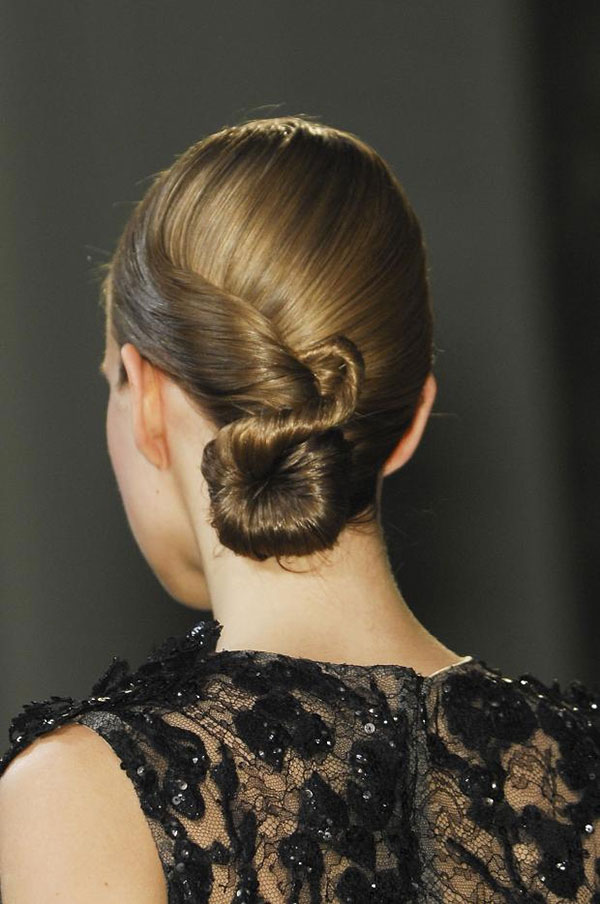 Elie Saab Couture Paris 2013 - twisted chignon