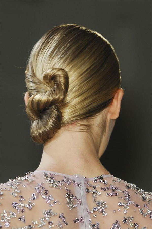Elie Saab Couture Paris 2013 - twisted chignons
